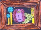 Spiralenbilder nach Hundertwasser, Kl. 5b