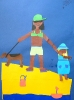 Touristen im Sommerurlaub, Klasse 6c