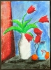 Rote Tulpen nach August Macke_4