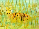 Tiger im Dschungel nach Rousseau, Klasse 5a