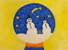 Weihnachtskugeln mit und ohne Schnee, Klasse 5a